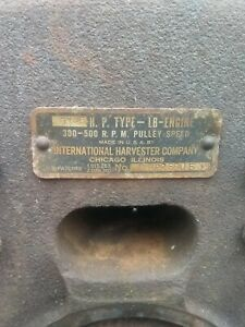 Ihc International Lb 3 5 Hp Engine Block Internal Parts And Pulley Northern Wi