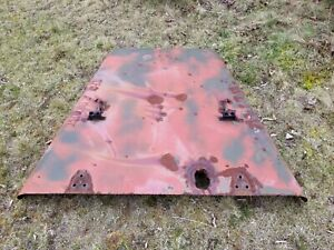 Dodge Military M37 M43 Vintage Original Hood Good Condition With Burned Hole