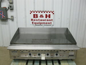Rankin Delux 48 Rd85 48 Heavy Duty Natural Gas Flat Top Griddle Grill 4