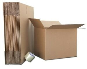 12x12x8 50 Corrugated Boxes For Moving Packing Shipping Boxes