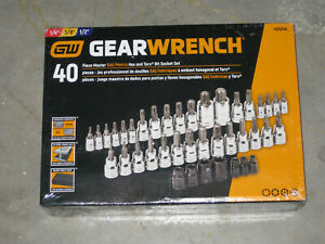 Gear Wrench 40 Pc Hex Torx Set 1 2 3 8 1 4 Drive New W case Free S h