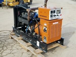 Generac 35kw Lpg Single Phase 120 240 Vac Standby Generator Set W Auto Transfer