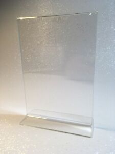 Acrylic Sign Holder Menu card Stand For 5 x7 For Conferences Restaurants Etc