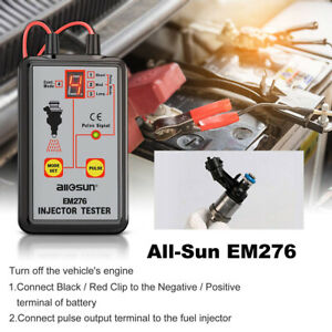 Automotive Em276 Fuel Injector Tester 4 Pluse Modes Fuel System Tool All Sun Usa
