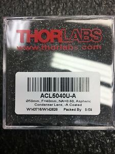Thorlabs Acl5040 Aspheric Condenser Lens Acl5040u a Lot Of 30