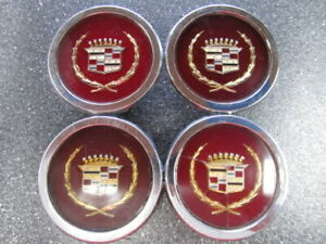 Set Of 4 Cadillac Gold Wire Wheel Cover Emblems 255063 254967 116mm 4 50
