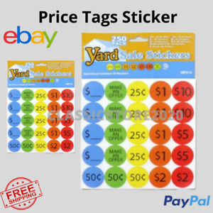 Price Tags Stickers Labels Digits Tags Lines Sale Label Retail Store Adhesive
