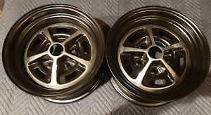 Pair Of 14x7 Magnum 500 Wheel Mopar Charger Ford Mustang 67 68 69 70 71 72 73