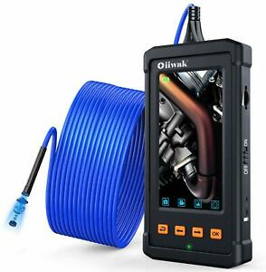 33ft Industrial Endoscope Oiiwak Pipeline Drain Sewer Duct Inspection Camera Ip