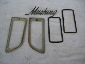 71 72 73 Mustang Assorted Misc Parts Lot Emblem Gaskets 1971 1972 1973 Mustang