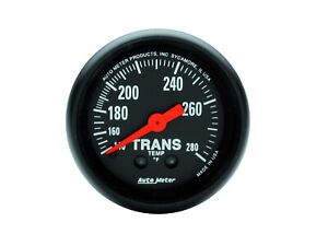 Auto Meter 2615 Z Series Transmission Temperature Gauge 2 1 16 Full Sweep