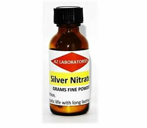 Silver Nitrate Crystals powder 5 Grams 99 99 Usa Made Same Day Ship