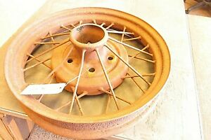 Old Antique Automobile Wire Spoke Wheel Hanging Ceiling Light Base Lot B