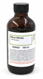 Silver Nitrate Solution 1m 100ml Highest Quality Usa Made Same Day Ship