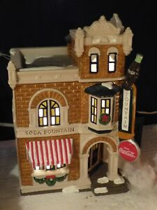 Department Dept 56 Coca Cola Corner Drugstore Retired