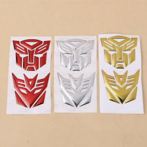 3d Autobot Transformers Decepticon Car Stickers Cool Emblem Bumper Vinyl Decal