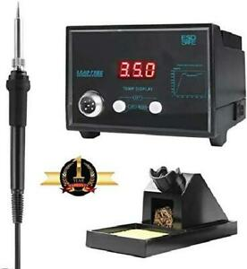 Digital Soldering Iron Station With Soldering Stand Tip Cleaning Wire Sponge And