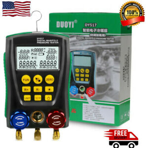 Refrigeration Digital Hvac Manifold Gauge Air Conditioning Leak Detector Meter