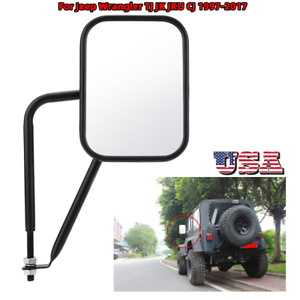 2pcs Door Less Side Rear View Mirror For Jeep Wrangler Tj Jk Jku Cj 1997 2017