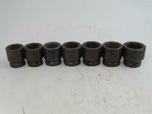 7 Wright 6 point Impact Socket Set 1 1 2 To 1 15 16 1 Drive 8848