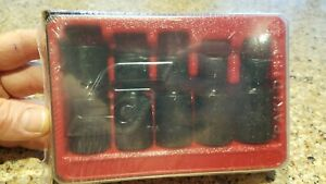 New Snap On 3 8 Dr 6 Pt 5 Piece Sae Shallow Swivel Impact Socket Set 205ipf