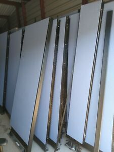 Lot Of Used Office Unicore Cubicles With Electrical Outlets And Cabinet