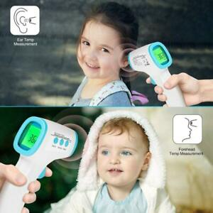 No contact Touch Ir Infrared Digital Lcd Thermometer Forehead Ear Babies Adults