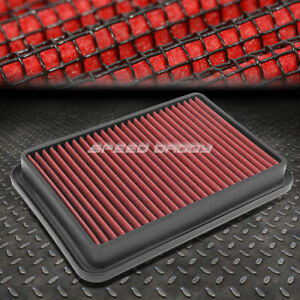 For 89 00 4runner 2 4 2 7l Red Reusable Washable Drop In Air Filter Panel