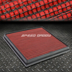 For Chevy Cruze buick Verano Red Reusable washable Drop In Air Filter Panel