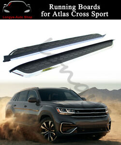 Running Boards Fits For Vw Atlas Cross Sport 2020 Side Step Nerf Bars Protector