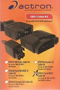 Actron Cp9131 Ford Mesc Cable Kit For Use With All 1988 95 Obdi Ford Vehicle