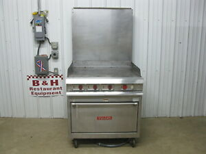 Vulcan Vr5c Flat Top Grill Griddle Electric Range W Convection Oven
