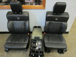 04 08 Ford F 150 Crew Harley davidson Black Leather Front rear Seats W Console