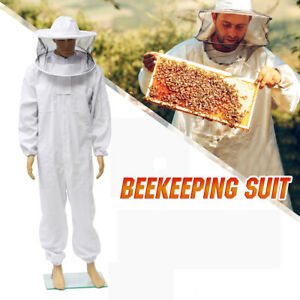 3xl Beekeeper Protection Bee Keeping Suit Safe Veil Hat All Body Equipment Hood