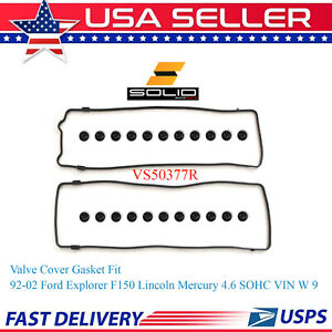 Solid Valve Cover Gasket For 92 02 Ford Explorer F 150 Lincoln Mercury 4 6 Sohc