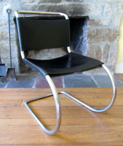 Vinatge Knoll Mies Van Der Rohe Mr10 Cantilever Leather Chair