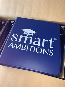 3 Ring Binder 1 1 2 Inch Smart Ambitions Navy Blue With 2 Pockets Pack Of 3
