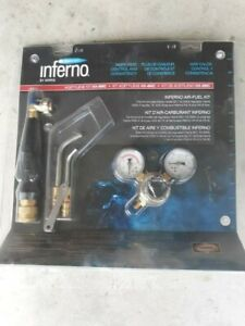 Harris Inferno Air Fuel Kit Turbo Torch Quick Connect W hose