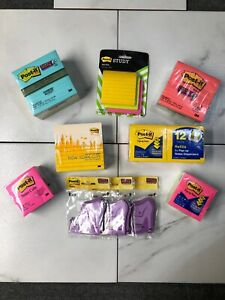 Color Post it Notes Assortment Sizes Lot Of 10 Pack Post it 3m Sticky Notes Cube