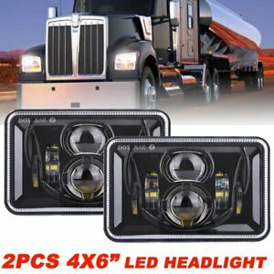 2pcs 4x6 Led Headlight H4651 H4652 H4656 H4666 H6545 Sealed Beam Lamp For Truck