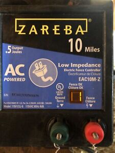 Zareba Electric Fence Charger 10 Acre Range Barely Used Condition