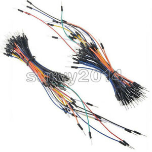 2pcs Male To Male 65pcs Solderless Breadboard Jumper Cable Wires For Arduino New