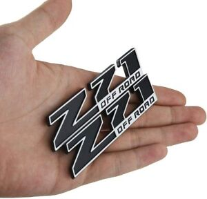 2 Pcs Small Size Z71 Off Road Emblem 3d Badge Nameplate For Gm Chevy Silverado