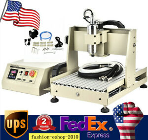 4 Axis Cnc Router 3040 Engraving Milling Machine Watercooling controll Box 800w