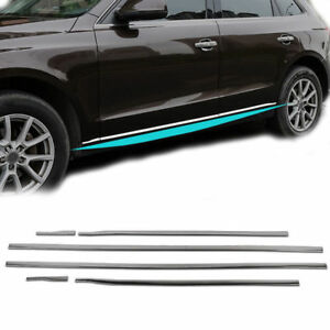 Fit For Audi Q5 2009 2017 Stainless Steel Side Door Body Molding Cover Trim 6pcs