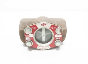 Opw 1481 Visi Flo 150psi Sight Glass Flow Indicator 2in Npt