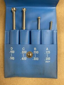 Fowler 52 472 104 Small Hole Gage Set W Chrome Finish 0 125 0 500 Japan