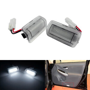 2x 24 Smd Led Courtesy Door Step Light Lamp White For Lexus Is Es Ls Rx Gx Lx Gs