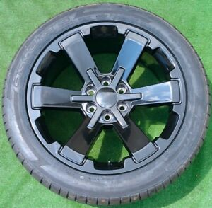 Black 22 Escalade Yukon Tahoe Wheels Tires Set New Suburban Oem Factory Gm Spec