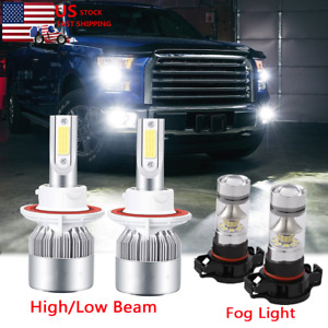 For 2007 2014 Gmc Yukon Led Headlights Kit High Low Beam Fog Light 6000k Bulbs